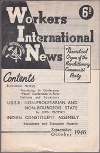 Workers International News, Vol. 6, No. 9 (September-October 1946) by  Harold (Editor) Atkinson - First Edition - 1946 - from Le Bookiniste and Biblio.com