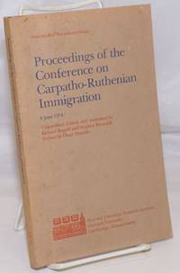 image of Proceedings of the Conference on Carpatho-Ruthenian Immigration, 8 June 1974