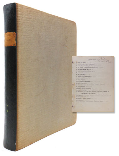 195 pp. 1 vols. 4to. In blue cloth album. 195 pp. 1 vols. 4to. Princeton graduate, author and clergy...