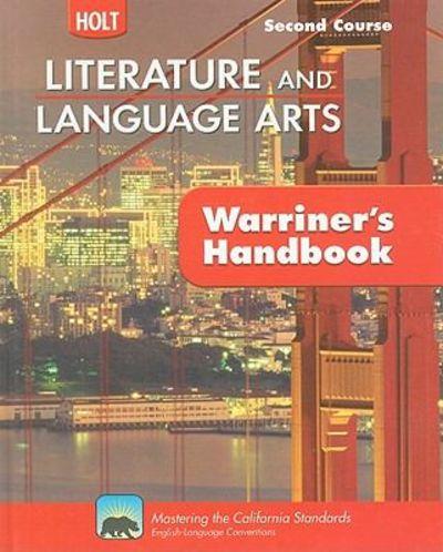 9780030992360 California Holt Literature And Language Arts