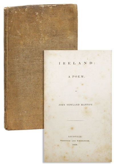 Louisville, KY: Prentice and Weissinger, 1839. First Edition. Octavo. Original publisher's plain bro...
