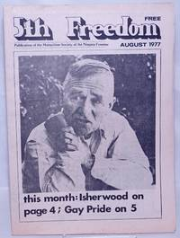 image of The Fifth Freedom [aka 5th freedom]: publication of the Buffalo Gay Community; vol. 7, #7, August 1977: Isherwood, Gay Pride