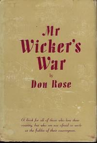 MR. WICKER'S WAR