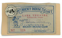 Mickey Mouse Club ephemera Card and Button