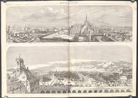 View of Milan.  The Harbor of Genoa.  The Illustrated London News. September 4, 1858.