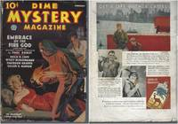 Dime Mystery Magazine 1936 Vol. 10 # 03 February: Death Holds for Ransom (SIGNED) / Embrace the Fire God / Slaves of the Tomb Maidens / Pale Daughters of Death / My Friend the Corpse / The Woman Hell Gave Me / The Beast in Her Bed