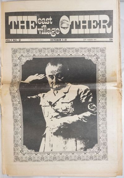New York: East Village Other, Inc, 1966. Newspaper. 24p., folded tabloid underground newspaper, arti...