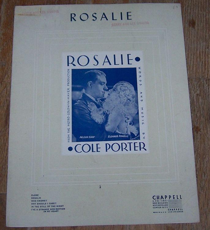 ROSALIE, Sheet Music