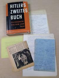 Hitlers Zweites Buch:  Ein Dokument Aus Dem Jahr 1928