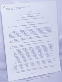 image of Bylaws, for the regulation of business of the Lesbian/Gay Freedom Day Committee, a California Nonprofit Public Benefit Corporation (adopted March 8, 1981: includes Amendments through February 10, 1982}