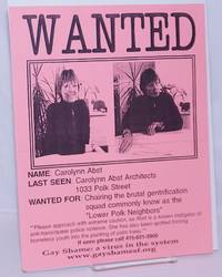 image of Wanted [handbill] Name: Carolynn Abst