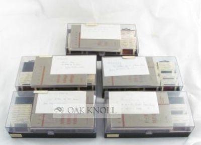 Paris: Unesco, 1963. plastic boxes. Illuminated Manuscripts. 8vo. plastic boxes. Five boxed sets. Fi...
