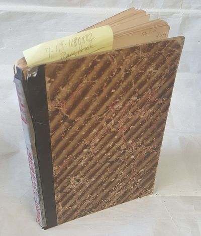 Wien: Wilhelm Braumuller, 1866. Thin Octavo; Good- condition hardcover; brown cloth spine with red h...