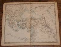 "Map of the Turkish Empire with Greece - disbound sheet from 1857 ""University Atlas"