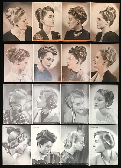 American Hairdresser, 1946-1948. Four (4) different 3-fold inserts from the American Hairdresser, ea...