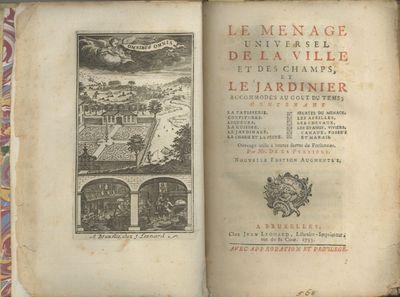 Bruxelles: Chez Jean Leonard, Libraire-Imprimeur; rue de la Cour, 1733. Octavo (20 x 13.5 cm.), , 50...
