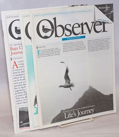 Stinson Beach, CA: Point Reyes Bird Observatory, 1991. Magazine. Three issues of the journal, a comp...