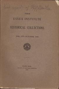 Essex Institute Historical Collections, Vol. LVI, No. 4