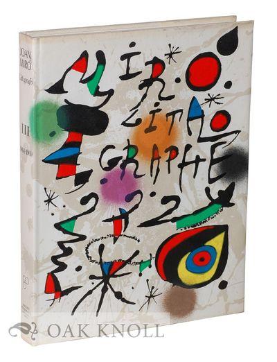 Barcelona, Spain: Ediciones Polígrafa, 1978. cloth, dust jacket. Miró, Joan. 4to. cloth, dust jack...