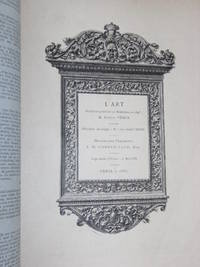 CATALOGUE de la Librairie de l'Art. 1882.