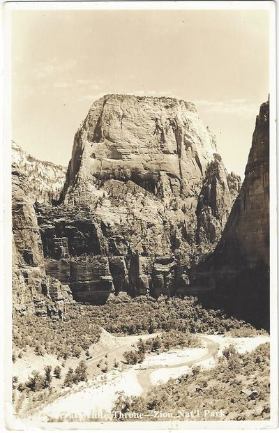 : , 1935. Real photo postcard Back has a Union Pacific shield and 'Utah Parks Company' vertically, d...