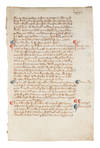 View Image 1 of 2 for Leaf from a Registrum Brevium, Probably London or Westminster, c 1350 Inventory #72504