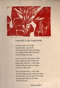 Lines for a Girl Named Rosy (Poem on Broadside) by  William Stafford - Paperback - Signed First Edition - 1973 - from citynightsbooks and Biblio.co.uk