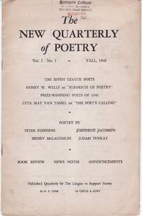 The New Quarterly of Poetry Vol. I No. 1