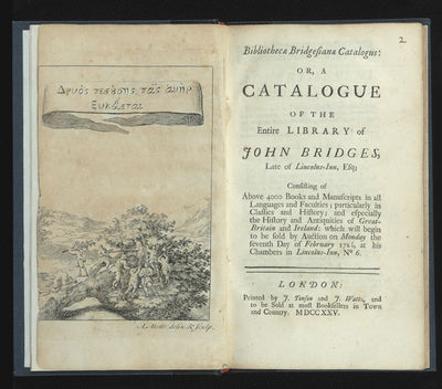 Engraved allegorical frontis (slightly cropped at outer margin). 3 p.l. (incl. frontis.), 199 pp. 8v...