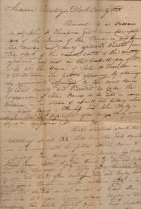 1814 Court Testimony Document Deposition of John Barney before Justice's of the Peace John A. Thompson and James McCampbell