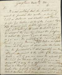 """THE """"FATHER OF THE AMERICAN NAVY"""" ADVISES JOHN TEMPLEMAN TO BEGIN PURCHASING TIMBERLANDS NEAR THE FEDERAL CITY FOR USE IN BUILDING UNITED STATES NAVY SHIPS, IN A MANUSCRIPT LETTER SIGNED, AND DATED GEORGE TOWN [DC], NOV. 9, 1798"""