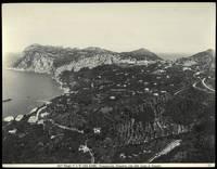 Capri. Panorama visto dalla strada di Anacapri.