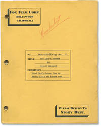 image of Silk Hat Kid [The Lord's Referee] (Original screenplay for the 1935 film, director H. Bruce Humberstone's copy)