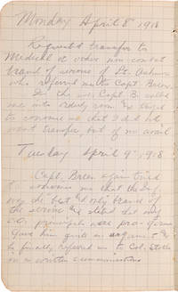 [DIARY OF AN AMERICAN CONSCIENTIOUS OBJECTOR SERVING IN A FIELD HOSPITAL ON THE WESTERN FRONT IN THE FINAL YEAR OF WORLD WAR I, INCLUDING IN SUPPORT OF THE MEUSE-ARGONNE OFFENSIVE]