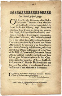 Die Sabbathi, 9 Junii, 1649, Ordered by the Commons Assembled...