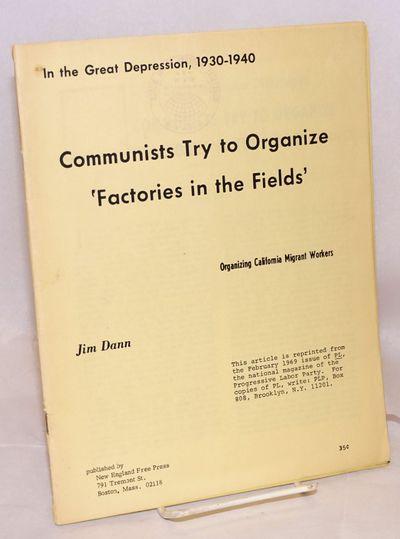 Boston: New England Free Press, 1969. pp. 72-96, wraps, 8.5x11 inches, IWW Boston local rubberstamp ...