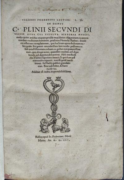 En damus C. Plinii Secundi divinum...