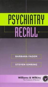 Psychiatry Recall (Recall Series)