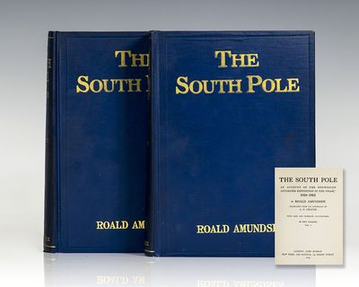 New York: Lee Keedick, 1913. First editions of Amundsen's memoir of the race to the South Pole. Octa...