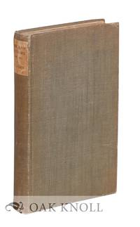 AMERICAN AUTHORS, 1795-1895, A BIBLIOGRAPHY OF FIRST AND NOTABLE EDITIONS CHRONOLOGICALLY ARRANGED WITH NOTES