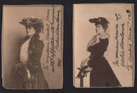 image of Two 1901 Inscribed Cabinet Card Photographs.