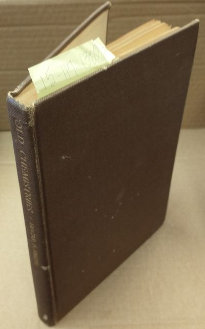 New York: McGraw-Hill Book Company, Inc, 1927. Hardcover. Large octavo; pp 89; G/no-DJ; tan spine wi...