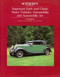 image of Sotheby's : Important Early and Classic Motor Vehicles Automobilia and Automobile Art. (30th November 1987)