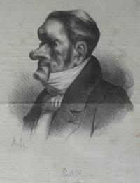 'Gan . . . . . Head and shoulders caricature of Auguste Ganneron.
