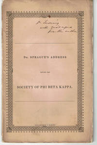image of AN ADDRESS DELIVERED AUGUST 16, 1843, BEFORE THE SOCIETY OF PHI BETA KAPPA IN YALE COLLEGE. Published by Request of the Society.