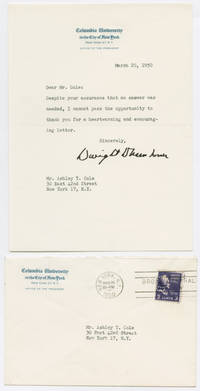 [TYPED LETTER, SIGNED, FROM DWIGHT D. EISENHOWER TO ASHLEY T. COLE, THANKING HIM FOR WRITING]