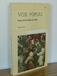 Vox Populi.  Essays in the History of an Idea