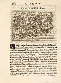 ONGHERIA. HUNGARIA DESCRIPTO WOLFGANGO LASIO DESC. by  Giovanni BOTERO - 1598 - from Peter Harrington (SKU: 56270)