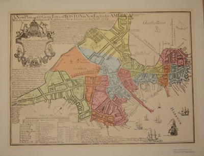 n. p.: not stated. Facsimile Reproduction. A fine map of the town of Boston, reproduced from an engr...