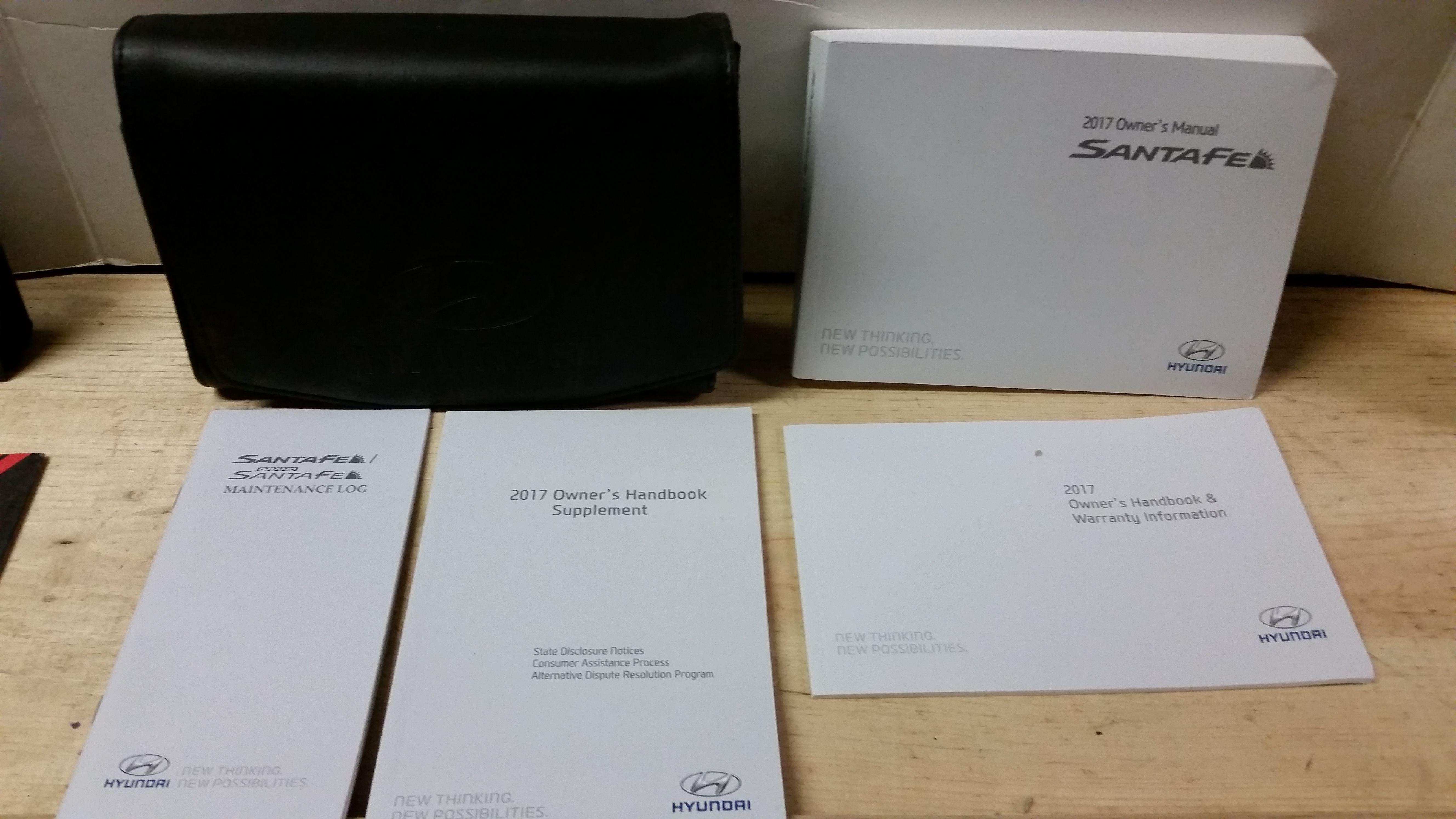 2017 hyundai santa fe owners manual pdf
